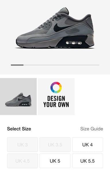 99f7ecf8c4fc6 Nike Air Max 90 Ultra 2.0 LE Older Kids' Shoe Size 4, 4.5, 5, £37.98 ...
