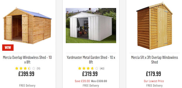 Cheap Shed Deals, Vouchers & Online Offers for Sale in 2019