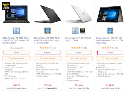 Cheap Dell Inspiron Deals, Vouchers & Online Offers for Sale