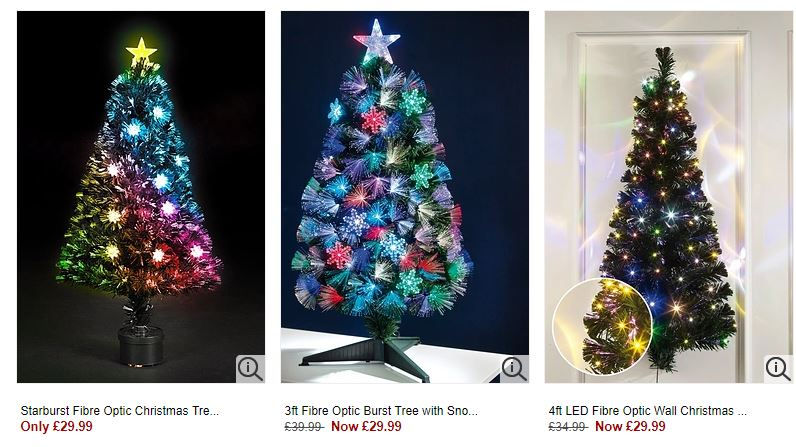 Pre Lit Led Fibre Optic Christmas Trees From 9 99 At Studio