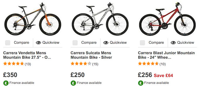 Carrera Deals → Top 5 Cheap Carrera Bikes for Sale UK | LatestDeals