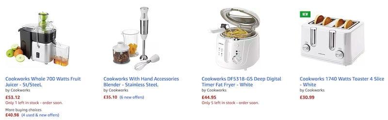 Cookworks Deals → Oven, Kettle, Rice Cooker, Blender UK