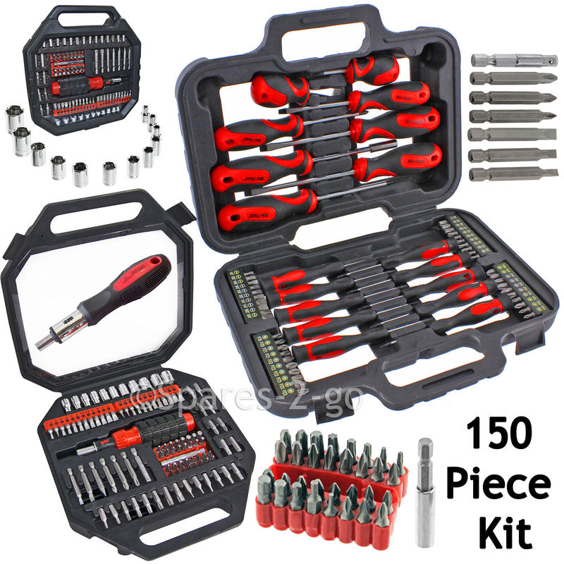 11 Piece Screwdriver Set Mechanics Magnetic Tipped Slotted//Phillips