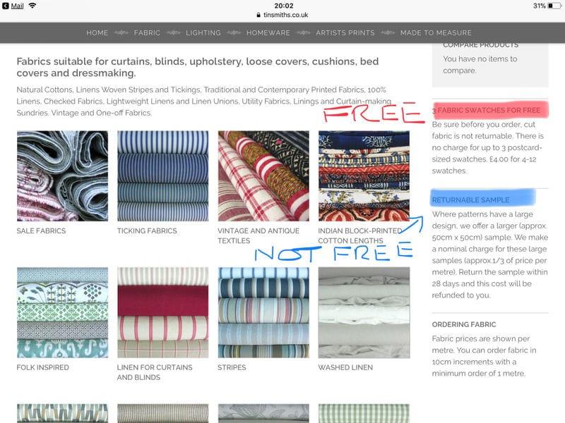 FREE 3x Fabric Samples | LatestDeals co uk