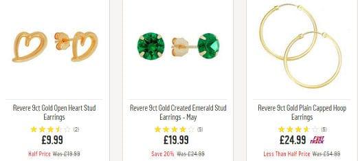 4c459a59e Cheap Earrings → Bargains, Deals and Sales UK 2019 | LatestDeals.co.uk
