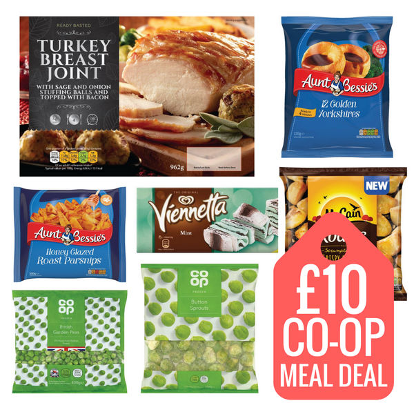 Wed Food Specials: New Co-Op Christmas Frozen Meal Deal (Wednesday), £10 At