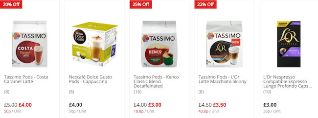 Cheap Coffee Pods Deals Vouchers Online Offers For Sale