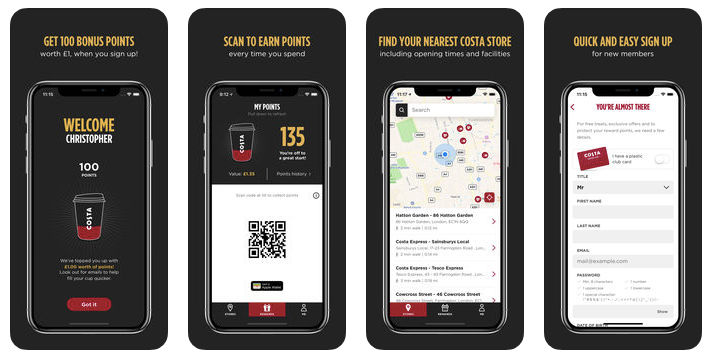 8753ac38a000 The Costa Coffee Club app is available for free on the Google Play Store  and Apple App Store (image: iTunes)