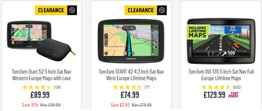 TomTom Deals - Best Cheap TomTom Sat Nav, Argos, Amazon