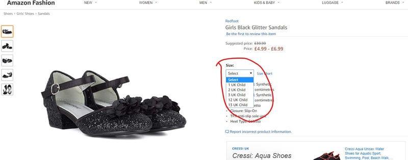1418d3274b7 GLITCH  Redfoot Girls Black Glitter Sandals