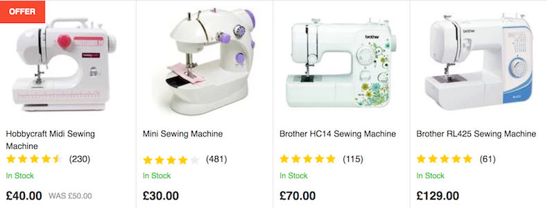 Cheap Sewing Patterns ⇢ Supplies Accessories 40 UK Classy Brother Sewing Machine Hobbycraft