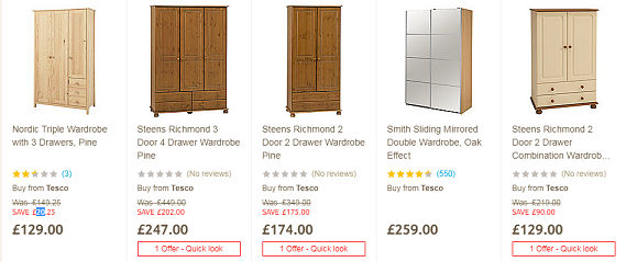 Cheap Wardrobes from B&Q, Argos, eBay, Tesco, IKEA | LatestDeals co uk