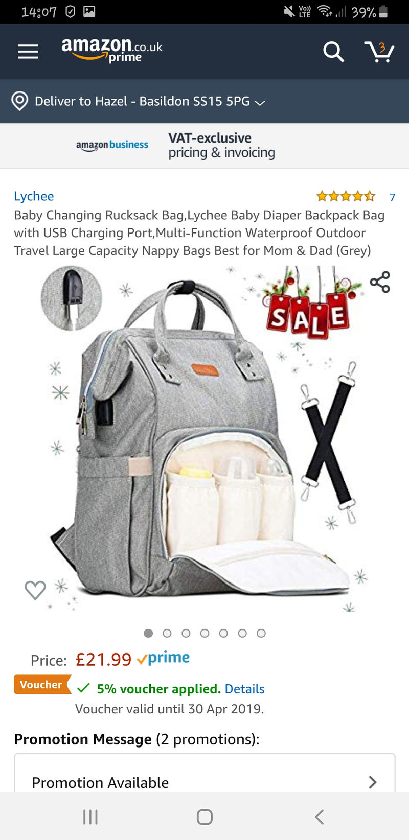 Baby Changing Rucksack Bag,Lychee Diaper Backpack Bag with USB Grey
