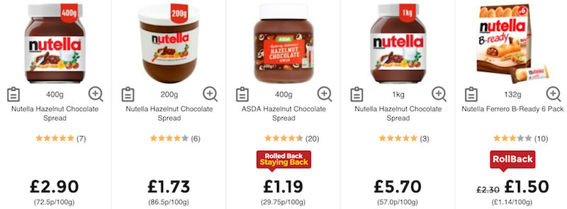 Cheap Nutella UK → Nutella Discounts & Deals 2019