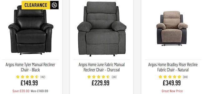 Recliner Deals Vouchers, Armchair With Footrest Argos