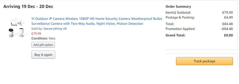 Glitch? Free YI Outdoor IP Camera- (Not Sure if It Works for All) at