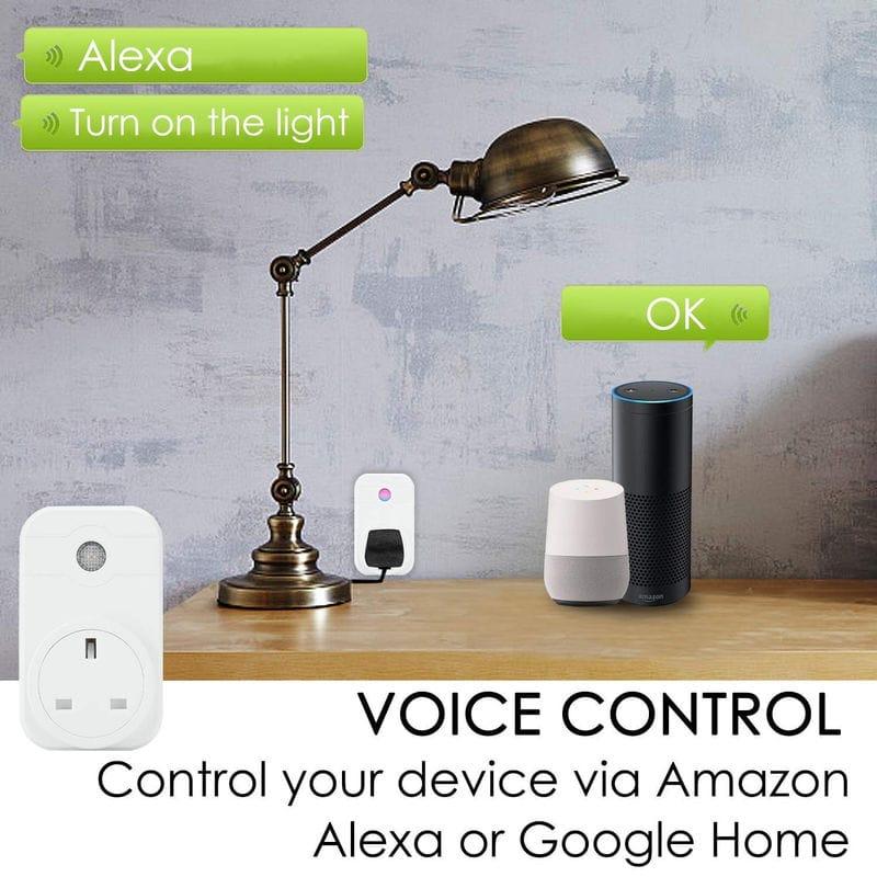 Smart Wifi Plug Supports Alexa & Google - £6 29 from Amazon