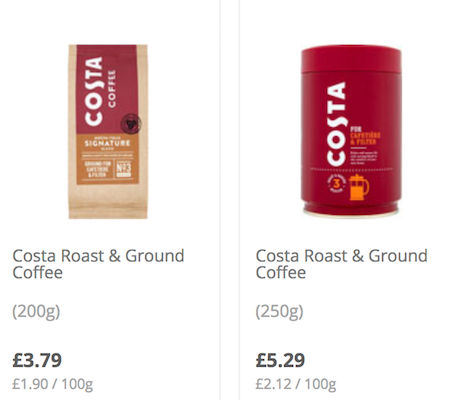Costa Deals Costa Coffee Vouchers January 2020
