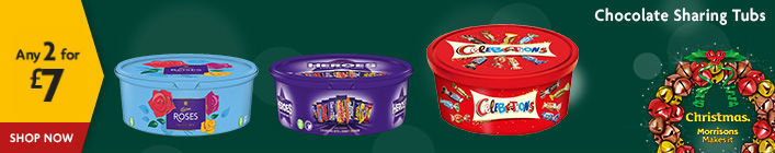 Chocolate Tubs 2 For 7 Cadbury Heroes And Roses Quality