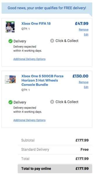 GLITCH - Xbox One S + FIFA 18 + Forza Horizon 3 (Free
