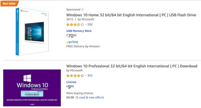 Cheap Windows 10 Deals, Vouchers & Online Offers for Sale in