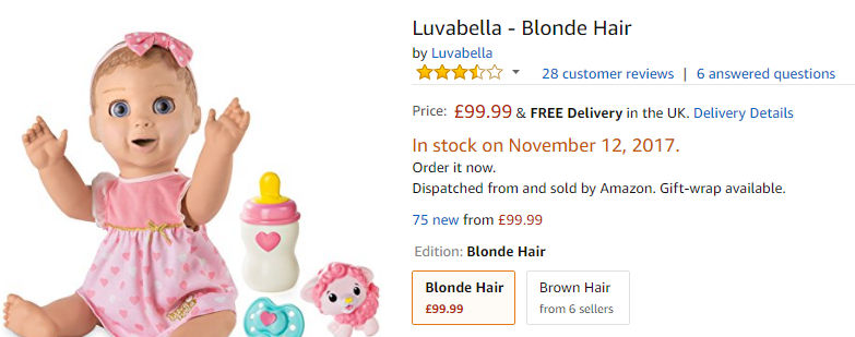 Where To Buy Luvabella Doll In The Uk The 2017 Hatchimal Could Be