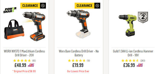 ARGOS VALUE RANGE 12V CORDLESS DRILL DRIVERS FOR MAC