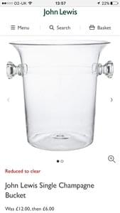 JOHN LEWIS Champagne Bucket