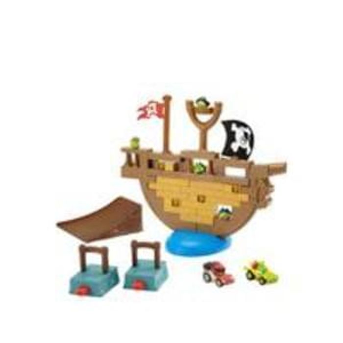 Angry Birds jenga pirate pig attack