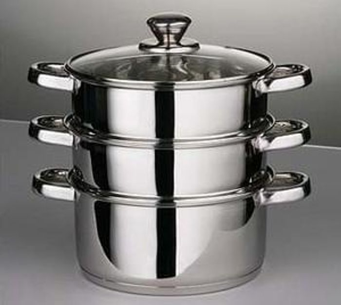3 Piece Steamer Set . Astounding Value! And FREE DELIVERY!