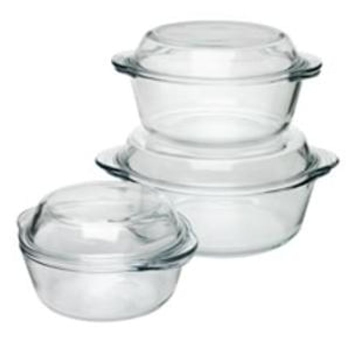 Discount Wilko Glass Casserole Set 3pcs Half Price At Wilko