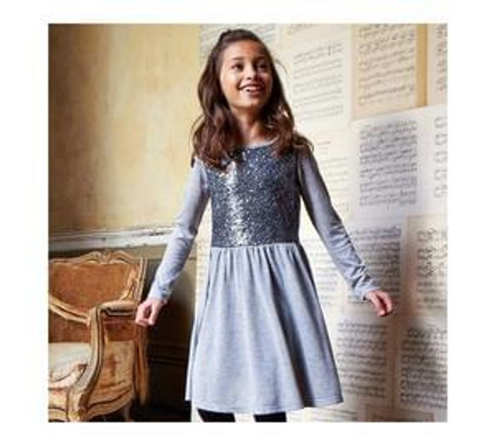 Cherokee Girls Silver Sequin Dress - 11-12 Years £2.80 When Added To Basket