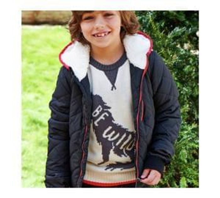 Cherokee Boys Quilted Coat Black - 5-6 Years Save £16
