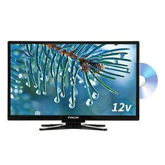 Finlux 22 Inch Full HD TV 12V Travel Plus Built In DVD Freeview Save £64.99