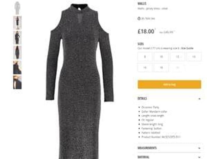 WALLIS Wallis - Jersey dress - silver