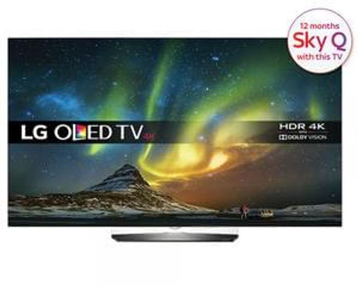 "LG OLED55B6V 55"" Ultra HD Alliance Premium with Dolby Vision + 12 months Sky Q"