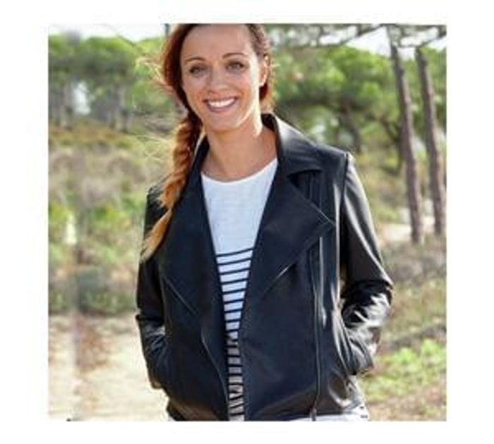 Cherokee Women's Black Faux Leather Jacket - Size 16 Other Sizes Available