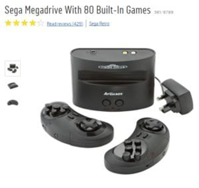 Buy Sega Megadrive With 80 Built-In Games £49.99  IN STOCK NOW AT ARGOS