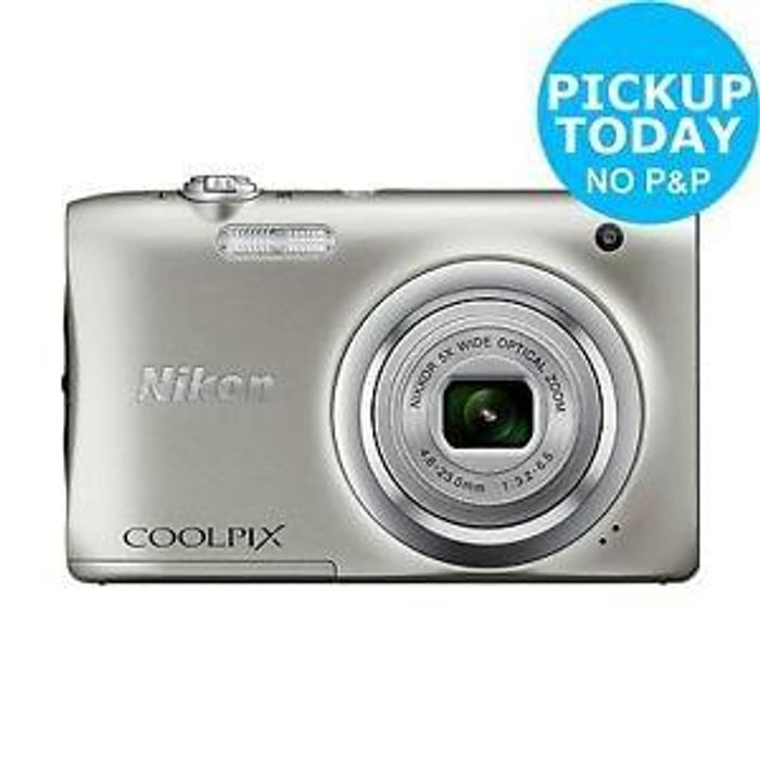 Nikon Coolpix A100 20MP 5x Zoom Compact Camera - Silver. From Argos on ebay