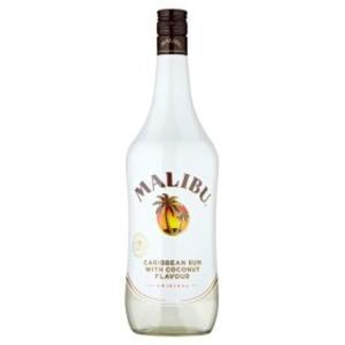 Malibu Caribbean Rum With Coconut Flavour 1ltr Save 750