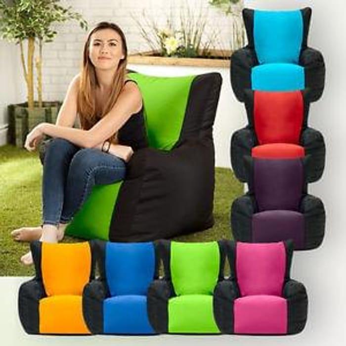 Enjoyable Two Tone Gaming Bean Bag Gamer Arm Chair Indoor Outdoor Creativecarmelina Interior Chair Design Creativecarmelinacom