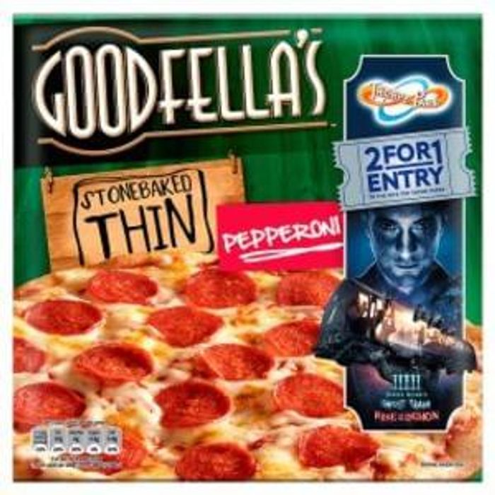 Goodfellas Thin Pepperoni Pizza Roll Back