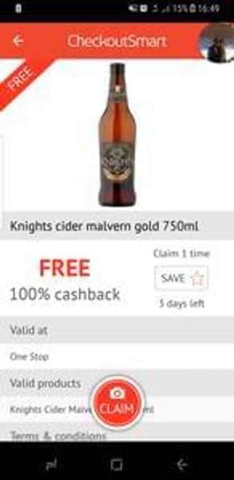 Free bottle of cider
