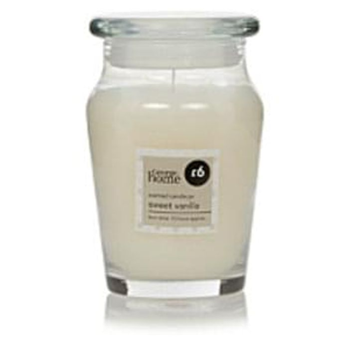 George Home Large Jar Candle Sweet Vanilla 2 At Asda