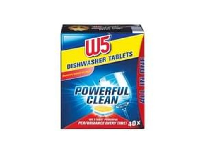 W5 All in One Dishwasher Tablets £1.99 for 40 tablets!