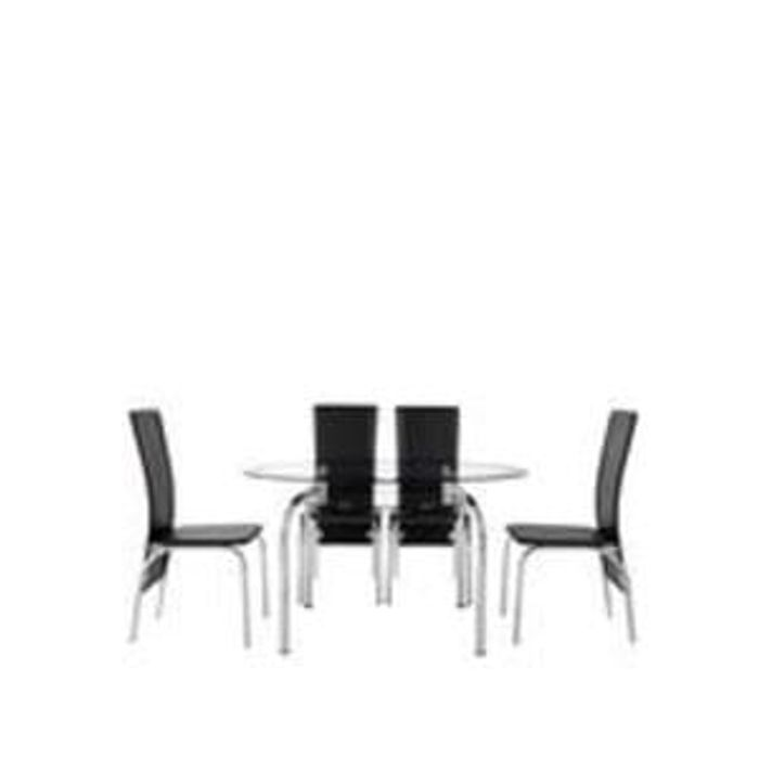 Varezze Dining Table and Set of 4 Chairs Save £220