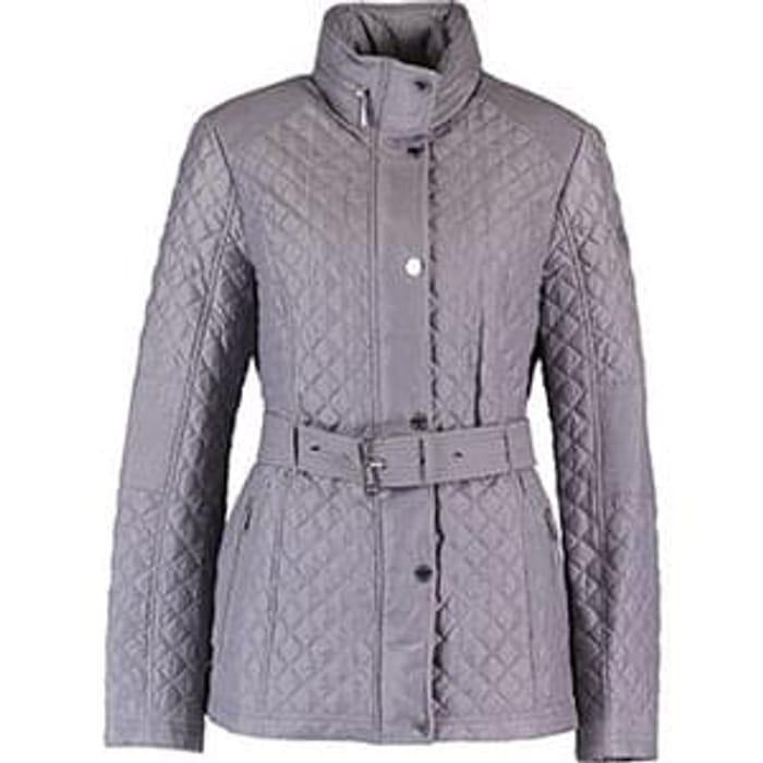 587525d6d MICHAEL KORS Grey Quilted Belt Jacket, £79.99 at TK Maxx ...