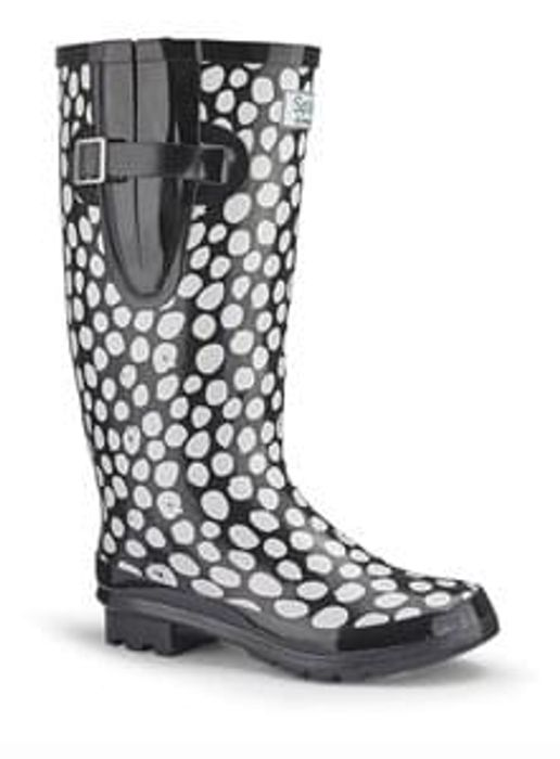 Splash White Dot Welly Boots Save £25 Free C+C
