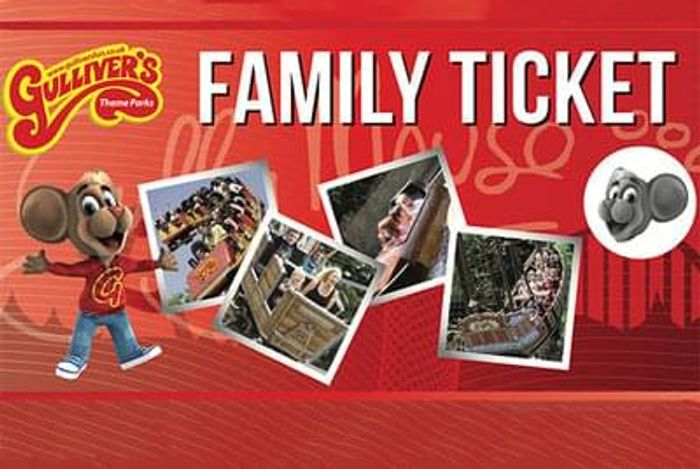 Gulliver's Theme Park Ticket for a Family of up to 4 - 3 Locations!