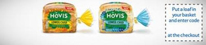 Tesco Online shoppers can get a free loaf of Hovis Lower Carb Bread.